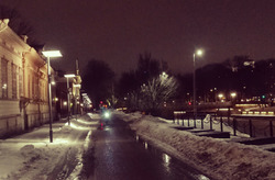 street and lights
