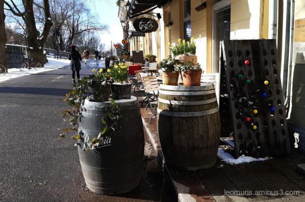 Sunny street view