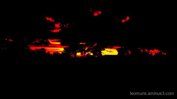 sunset in turku