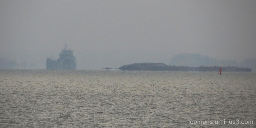 ship in fog