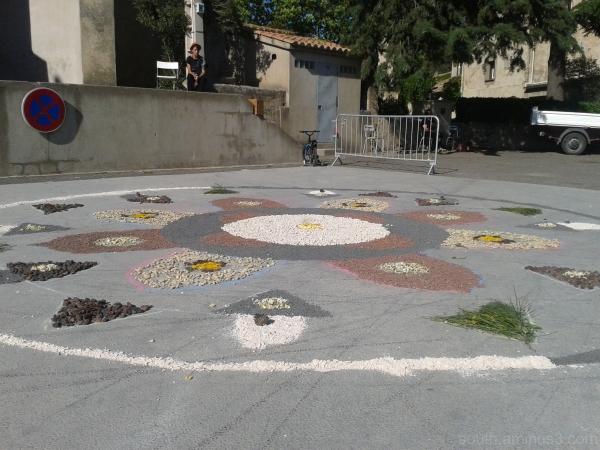 mandala street stones parking colors