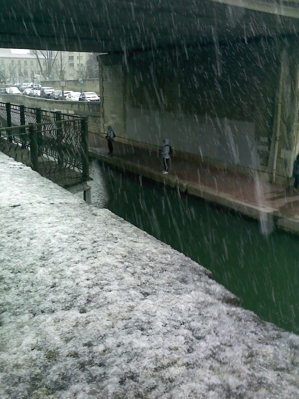 fishing under the  snow