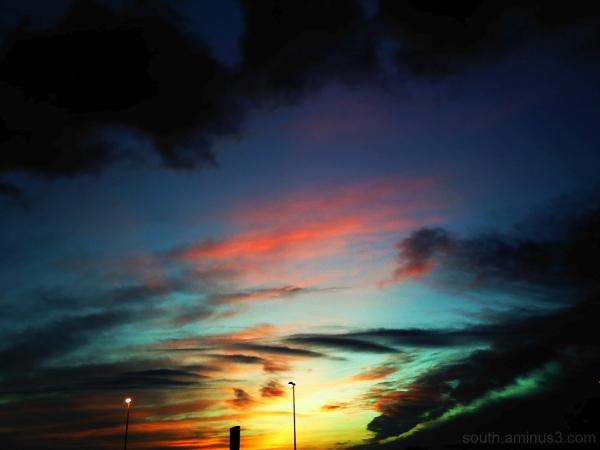 sky color night light