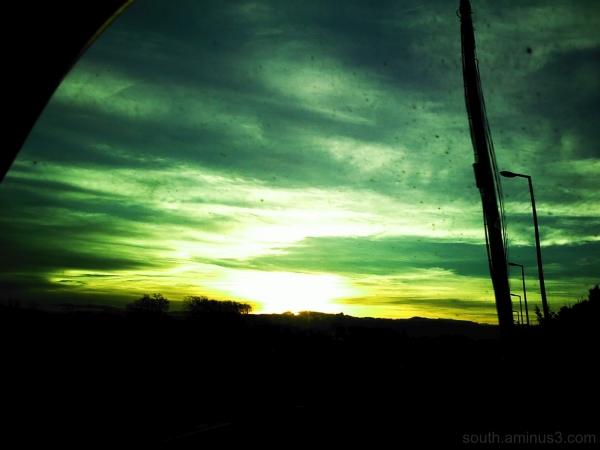 sky color road trip green car land