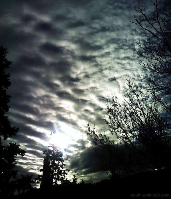 ciel sky cloud nuage light  lumière noir et blanc