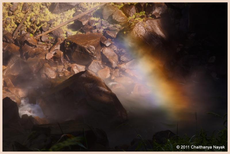 Rainbow in Yosemite NP, CA