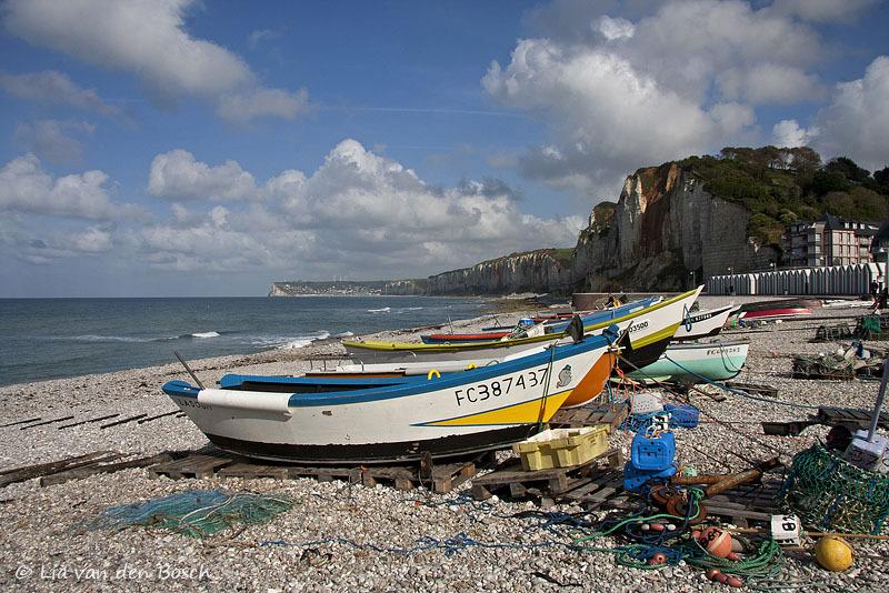 de kust bij Yport, Normandië, Frankrijk