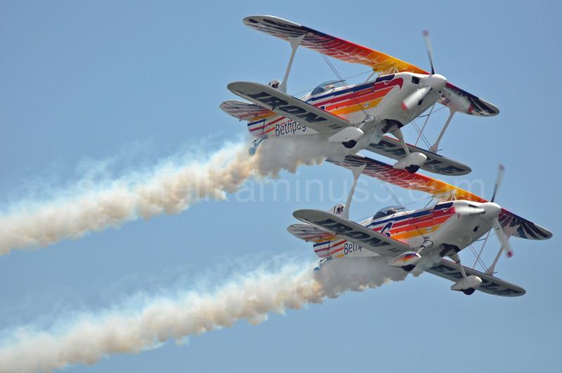 bi-planes at airshow