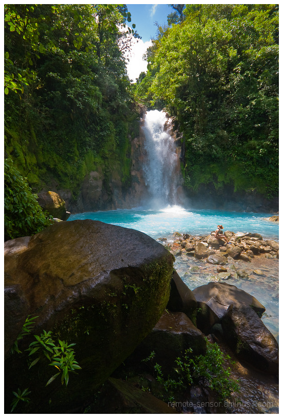waterfall on the rio celeste