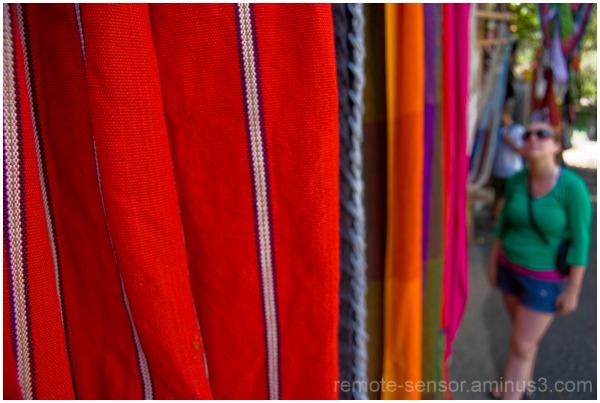textiles at a costa rican market