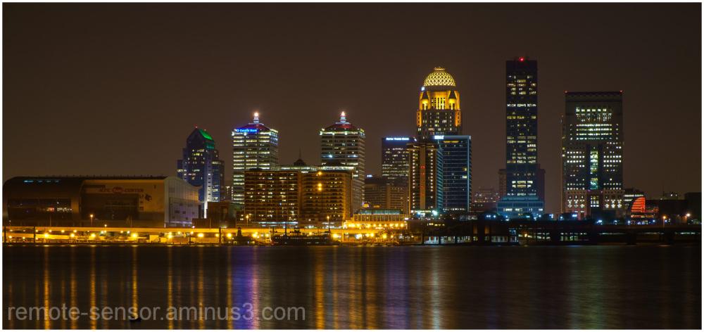 Panorama of Louisville, KY Skyline