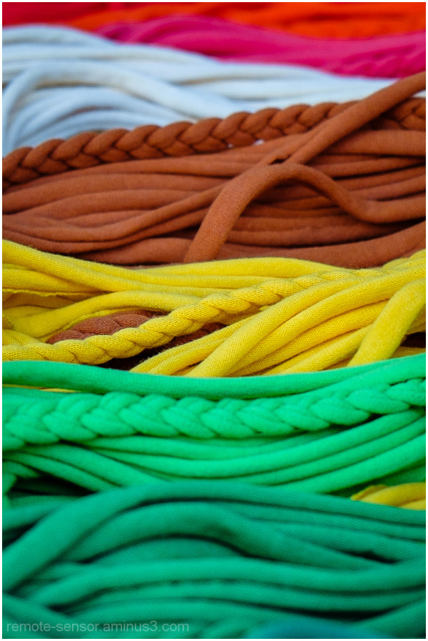 colorful strands of yarn