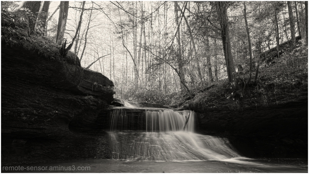 creation falls in black and white