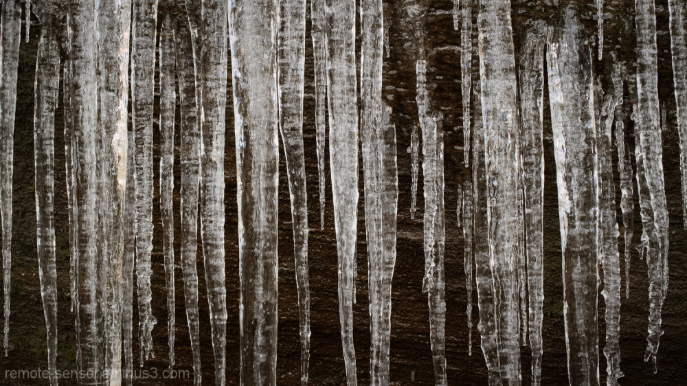 icicles hang from a cliff in red river gorge
