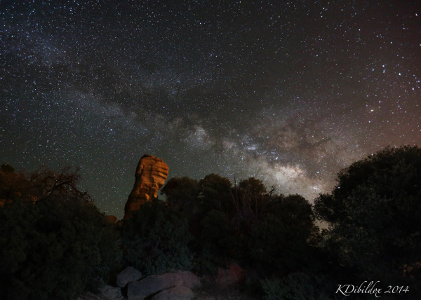 Milky Way over a hoodoo