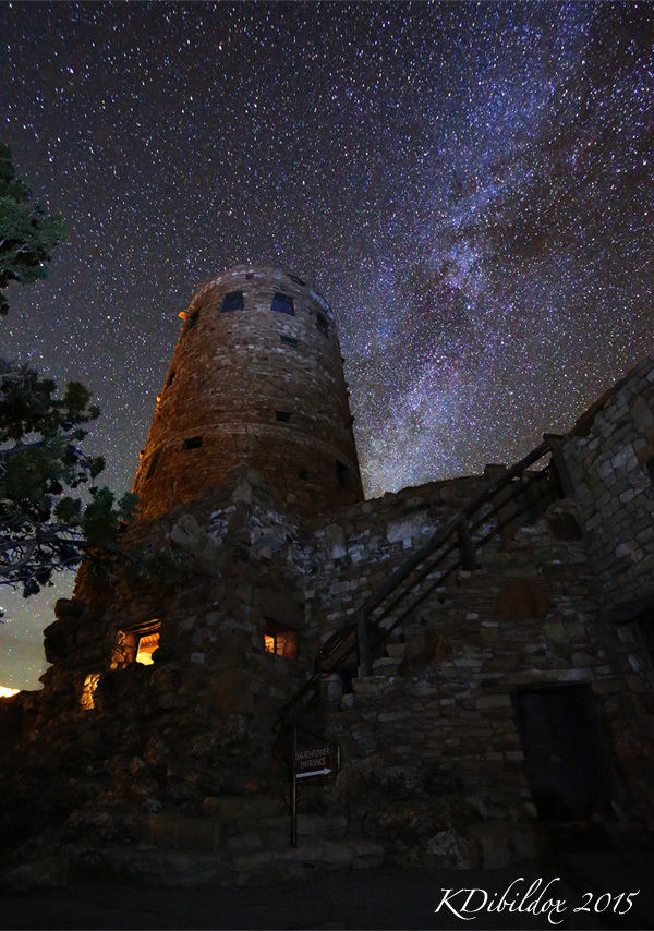 Milky Way and the Watch Tower
