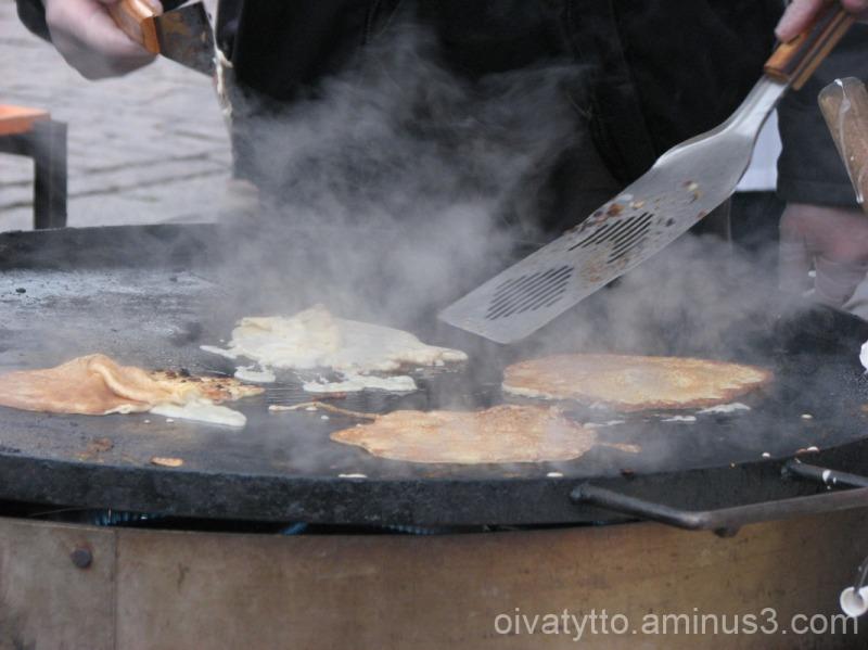 Pancake griddle in turun tori
