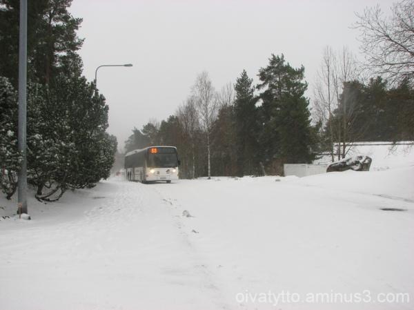 BUS TRAFFIC IN WINTER
