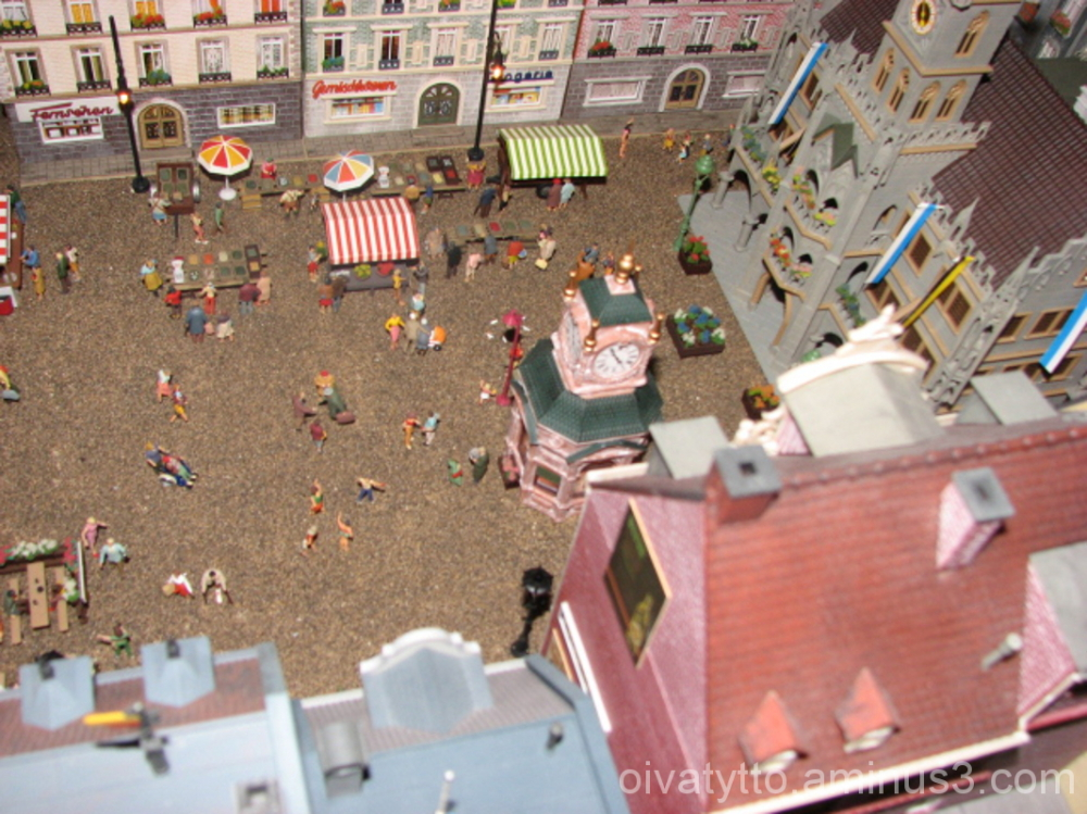 View of the miniature town square!