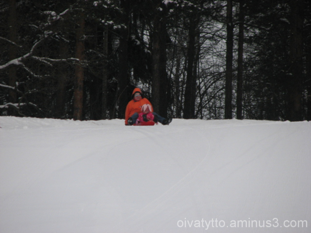 Me and Venla sledding hill!
