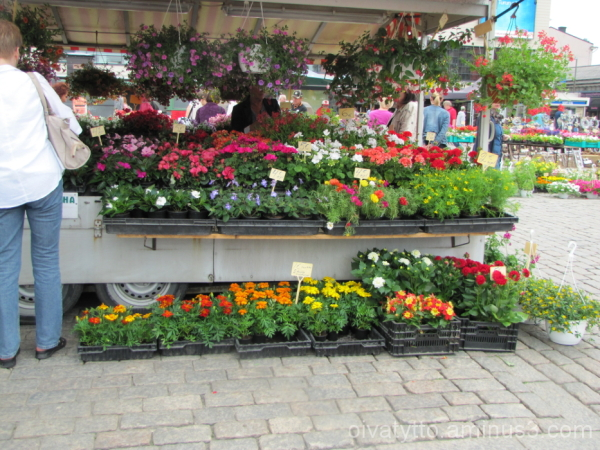 Flower vendor at the market!