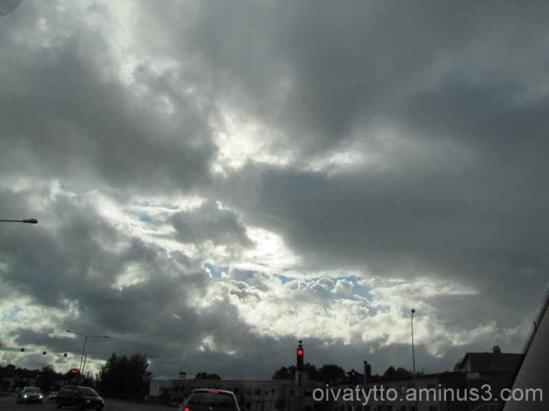 Storm clouds in the sky!