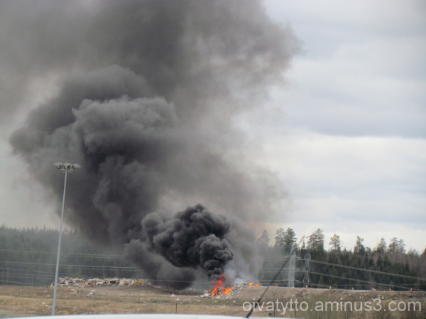 The landfill raging fire!