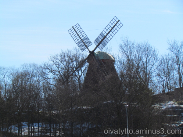 The windmill is visible only in the winter!