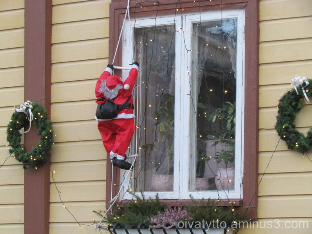 Funny window decoration.