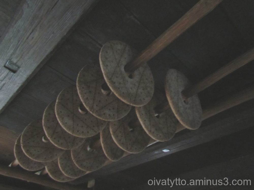Bread drying in the ceilings.