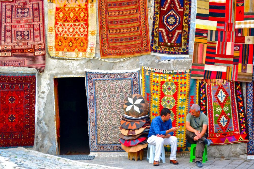Turkish rug sellers in the afternoon
