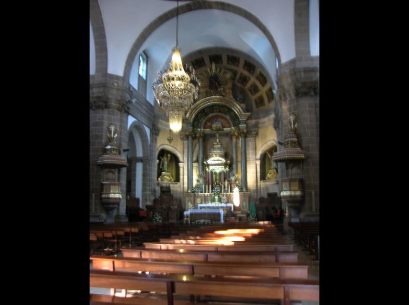 Before Mass, catholic church, alter