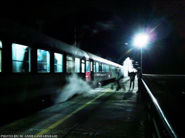 Night train Dark way Amir Goharshahi