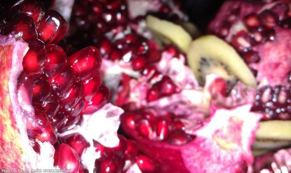 Yalda pomegranate red wallpaper Amir Goharshahi