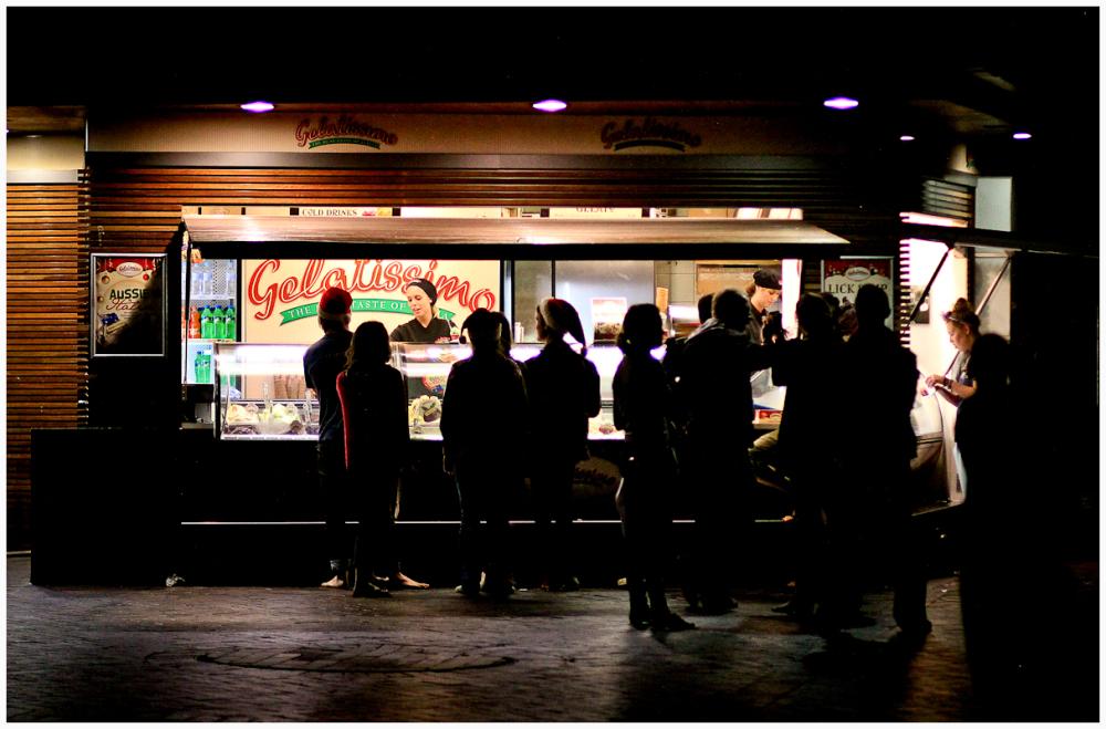 Ice Cream at night