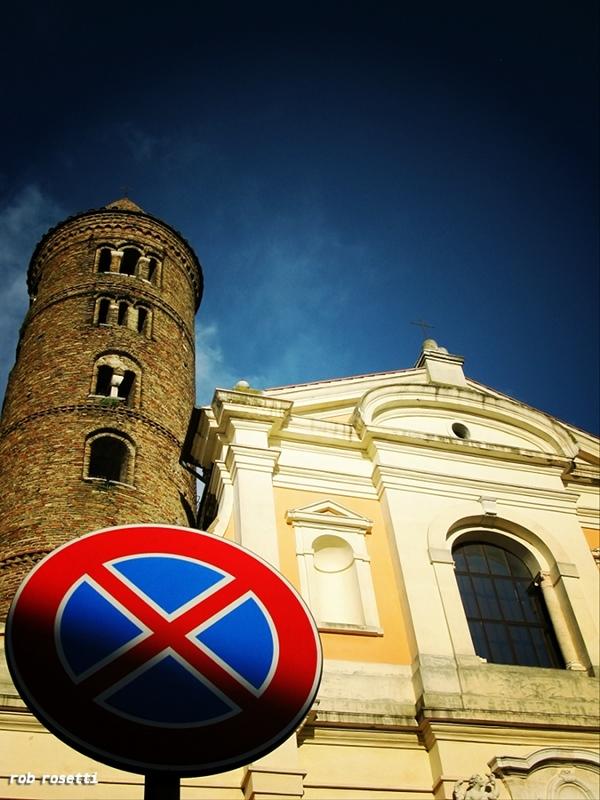 Ravenna Italy abstracted low-fi Basilica