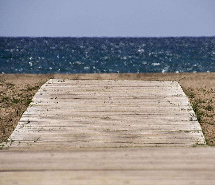 beach playa castelldefels
