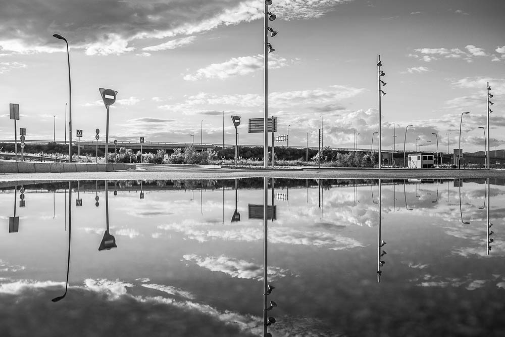reflections b&w
