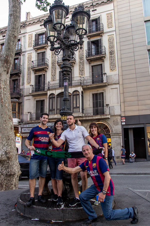barcelona street people barça