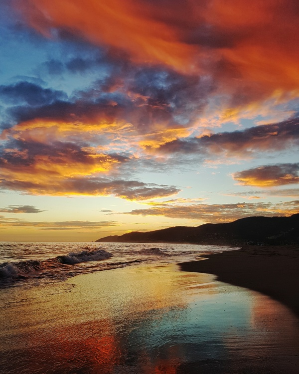 Castelldefels beach playa sunset ocaso