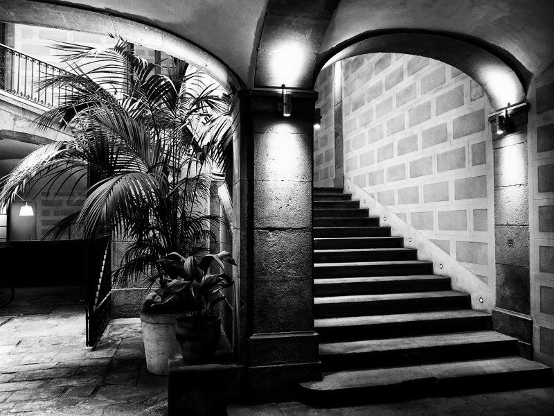 Barcelona building black&white bw monochrome
