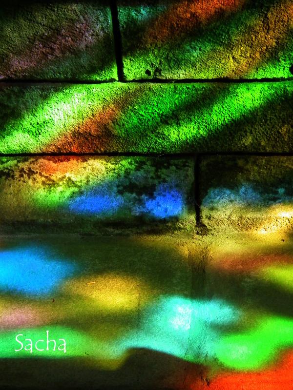 Lumière céleste  église de Locronan Bretagne