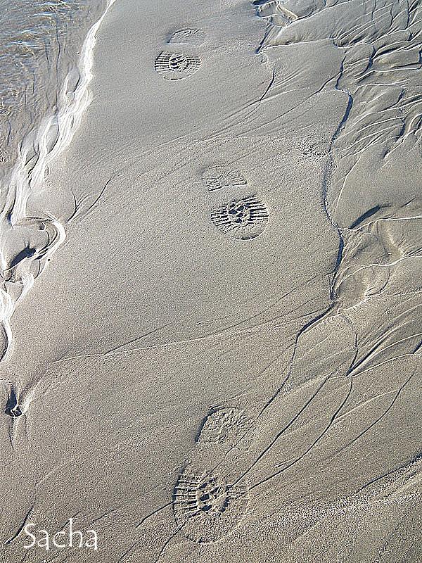 Marcher sur la plage ....
