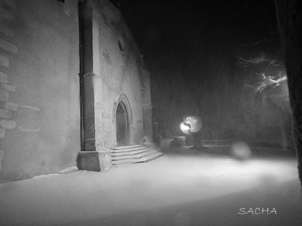 """St Luc dans le mistral et la neige """" Ménerbes """""""