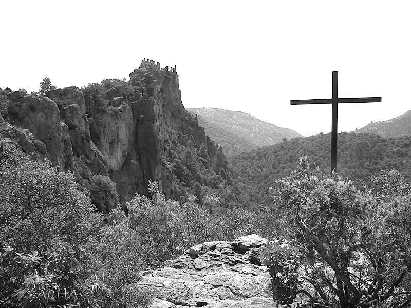 Col de la Croix vue sur le château des Géants