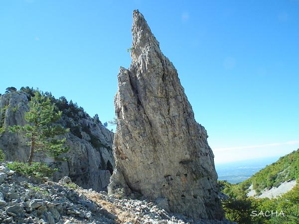 Rocher de l'Aiguille Mont Ventoux