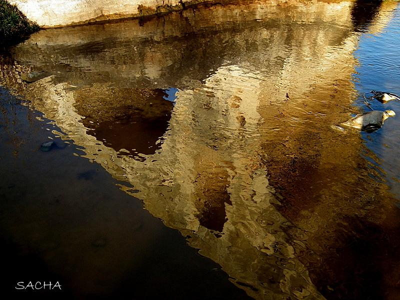 """Reflets au fil du Calavon """" Pont Julien """""""