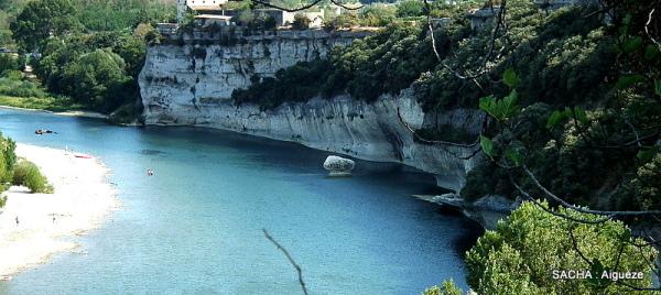 Rivière Ardèche  à Aiguèze