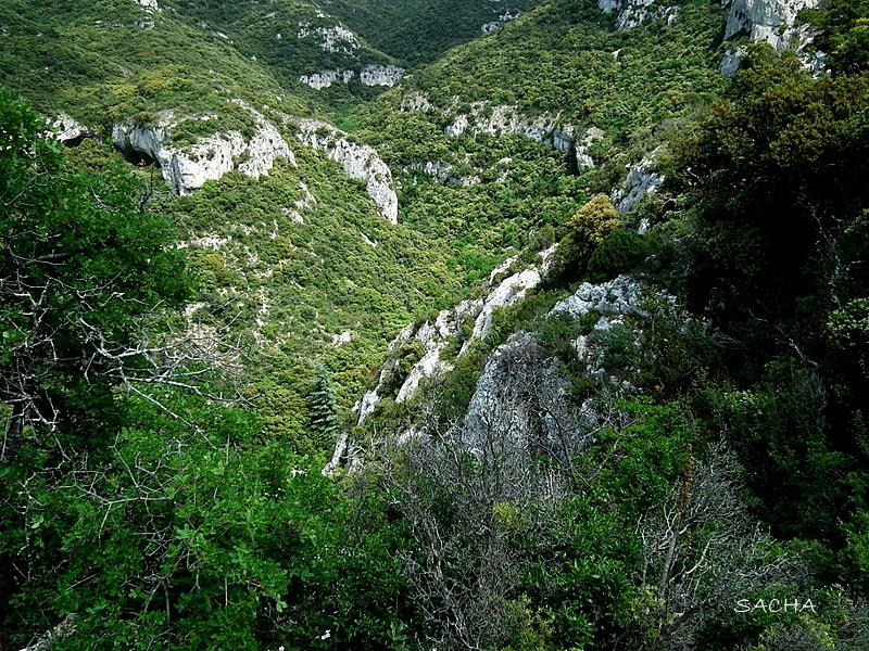 Vue plongeante  : combe  Massif du Petit Luberon