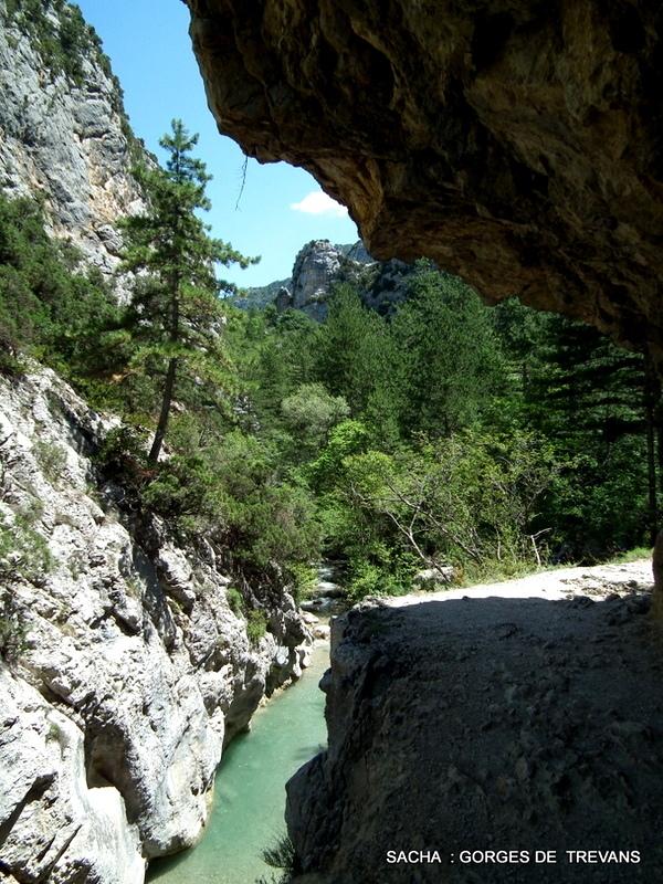 Entrée gorges de Trévans Alpes de Haute Provence